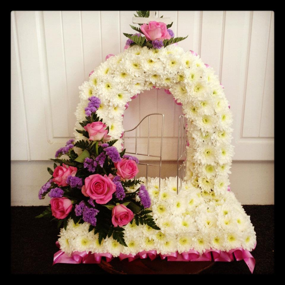Funerals buds and blooms warsop gates of heaven inclusive of ribbon and corsage from 130 izmirmasajfo