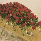 Red Rose Coffin Spray A1 3ft - £135, 4ft - £180, 5ft £225, 6ft £270