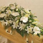 Mixed Lily including anthoriums Coffin Spray A2. 3ft - £135, 4ft - £180, 5ft £225, 6ft £270