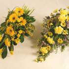 Yellow single-ended Coffin sprays A23 A24. 2ft - £50, 3ft - £75